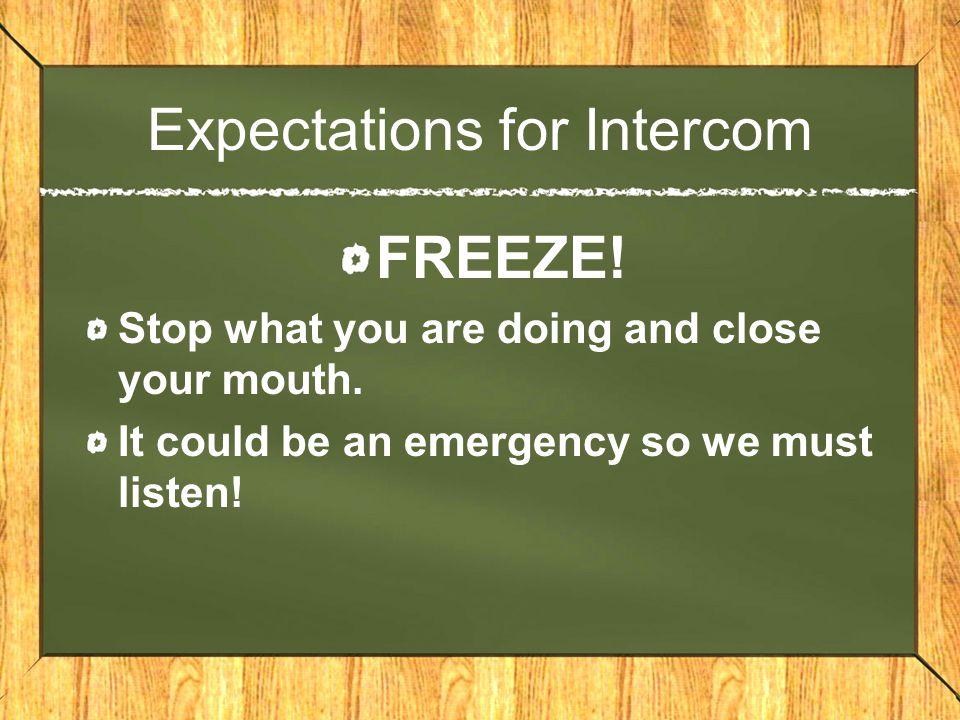 Expectations for Intercom