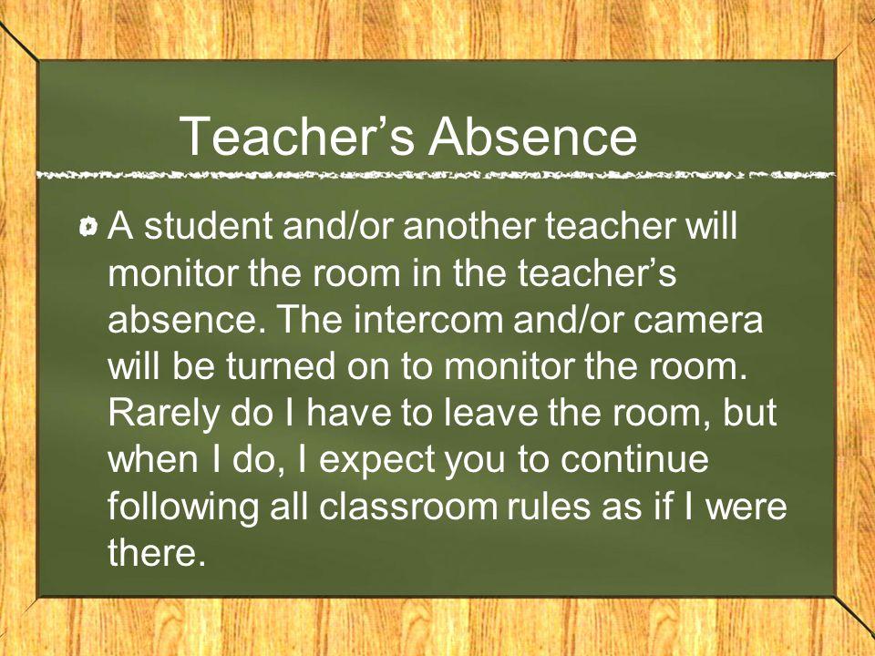 Teacher's Absence