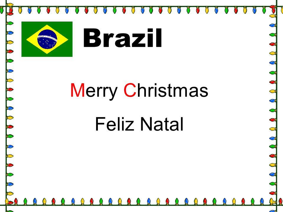 Brazil Merry Christmas Feliz Natal