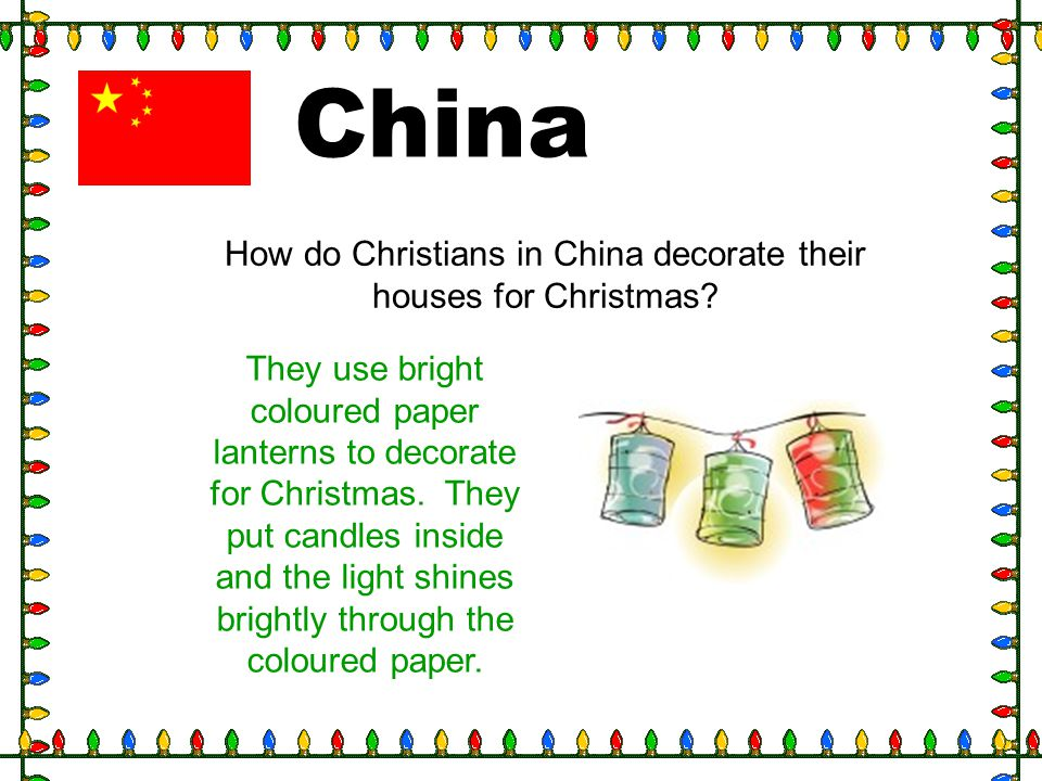 How do Christians in China decorate their houses for Christmas