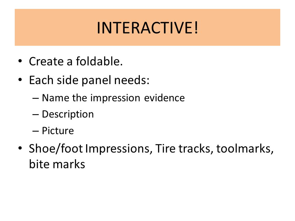 INTERACTIVE! Create a foldable. Each side panel needs: