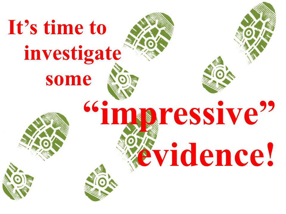 It's time to investigate some impressive evidence!