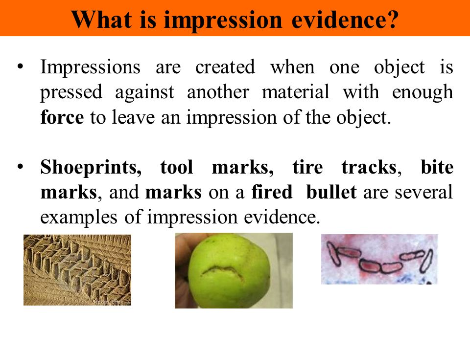 What is impression evidence