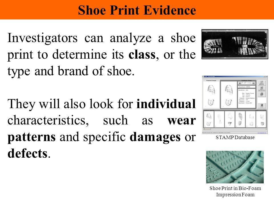 Shoe Print in Bio-Foam Impression Foam