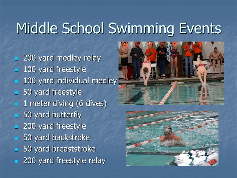 Middle School Swimming Events