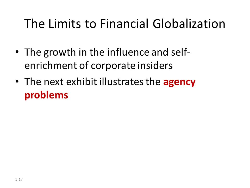 The Limits to Financial Globalization
