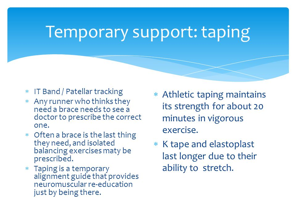 Temporary support: taping