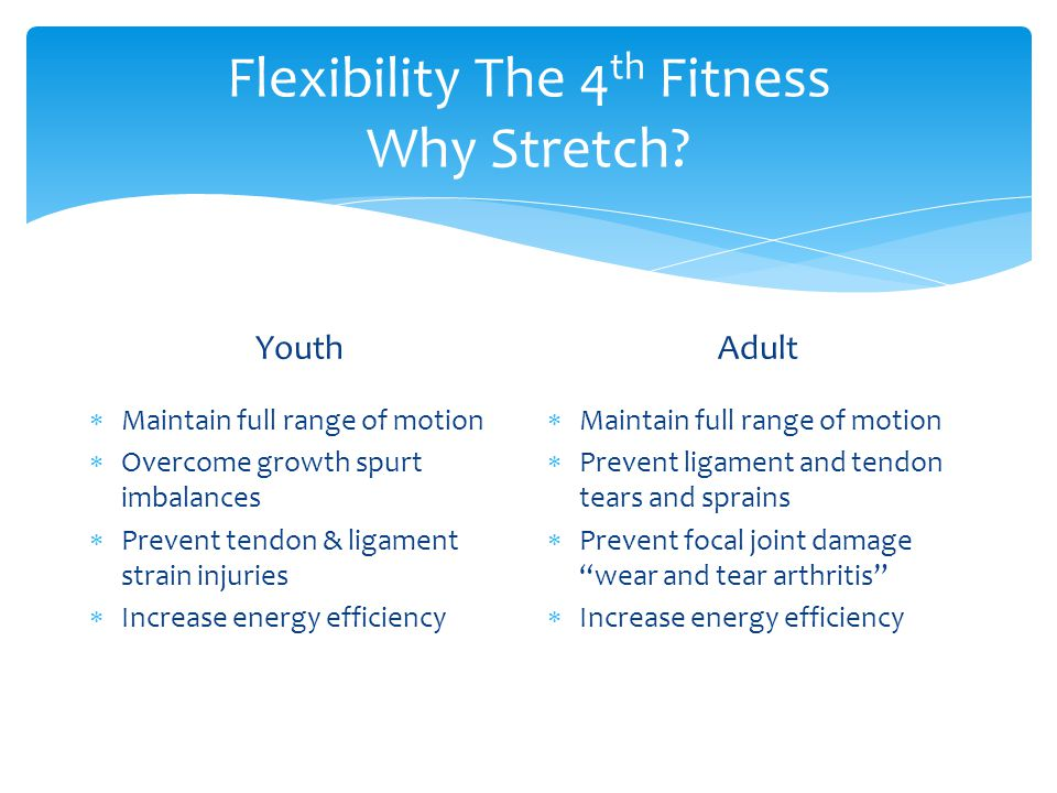 Flexibility The 4th Fitness Why Stretch