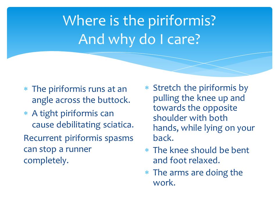 Where is the piriformis And why do I care