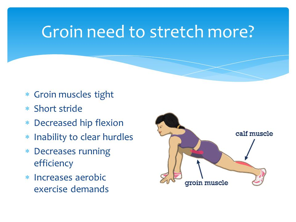 Groin need to stretch more