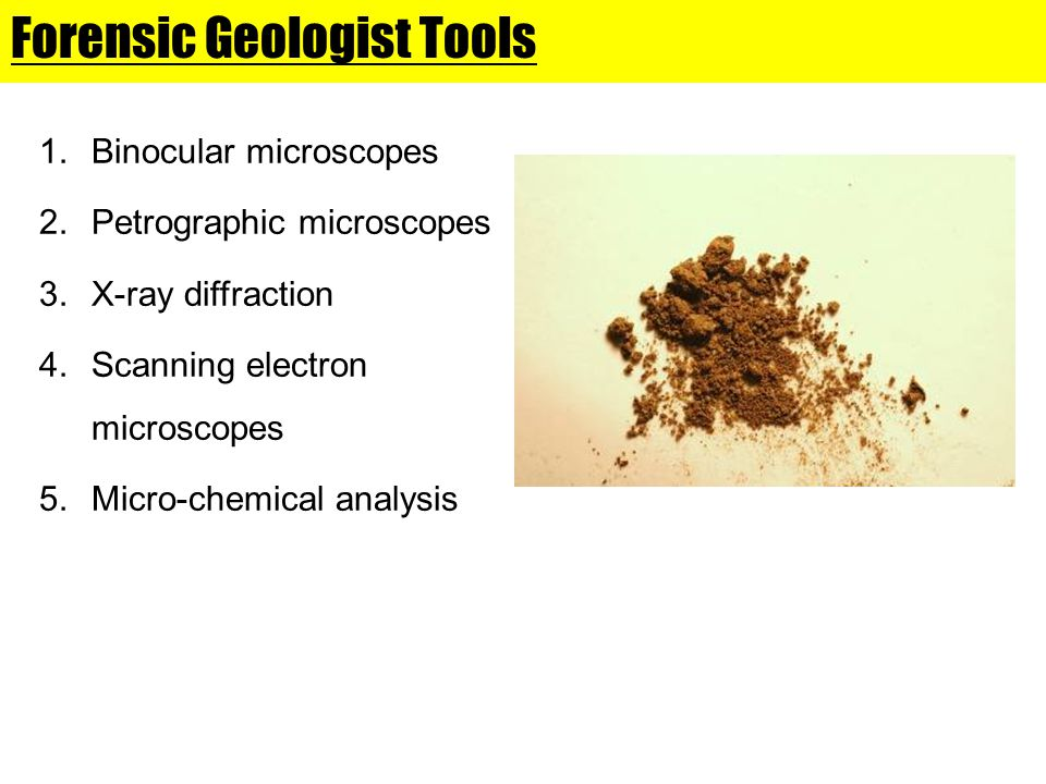 Forensic Geologist Tools