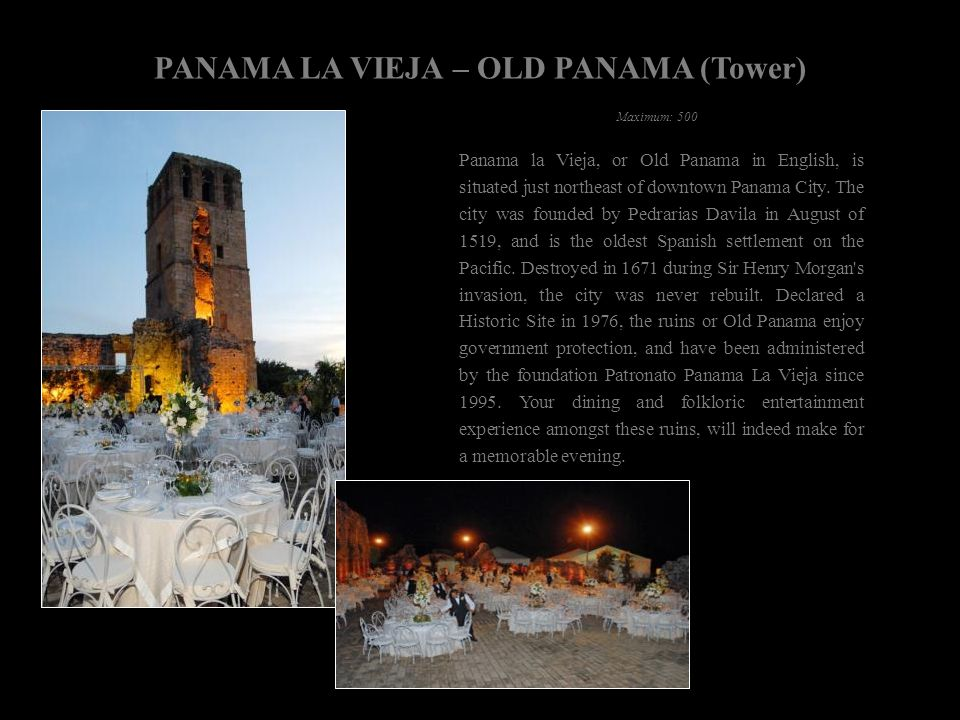 PANAMA LA VIEJA – OLD PANAMA (Tower)