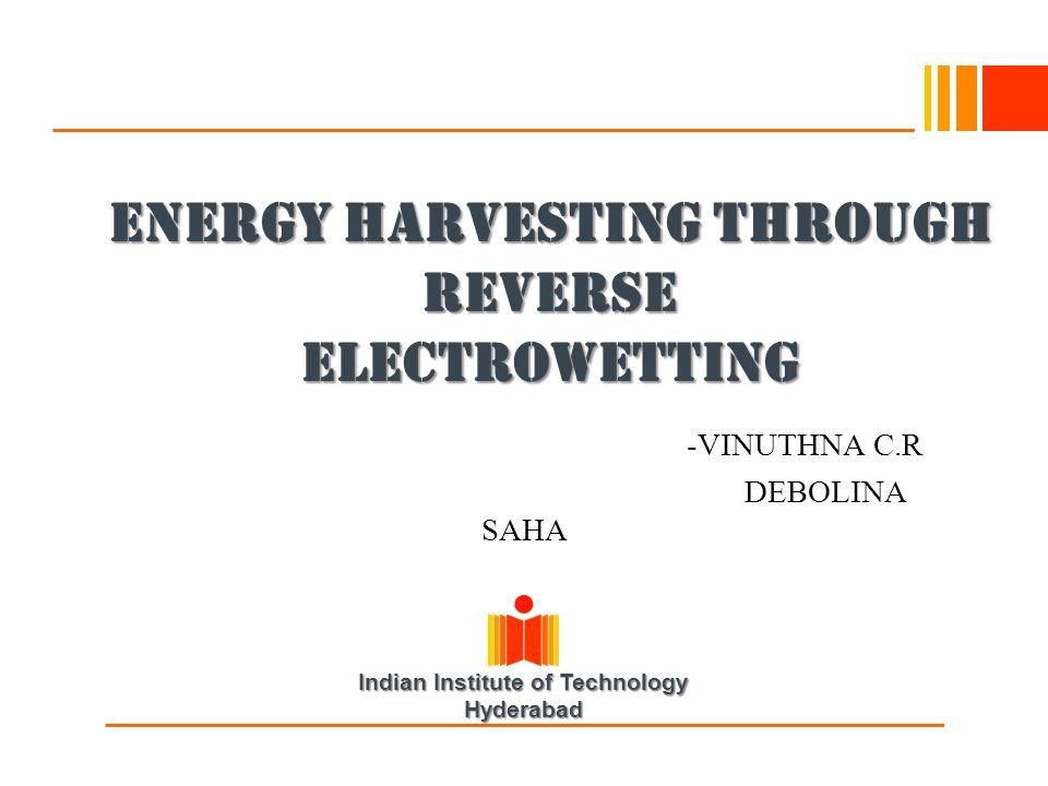 ENERGY HARVESTING THROUGH REVERSE ELECTROWETTING