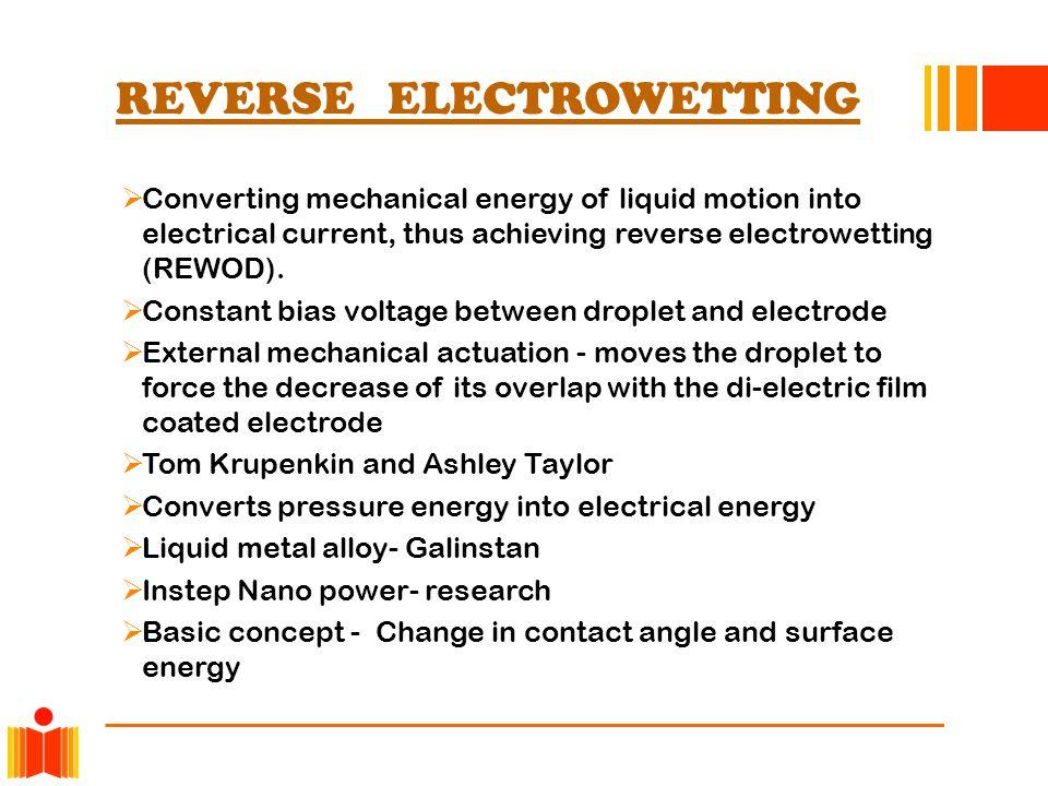 REVERSE ELECTROWETTING
