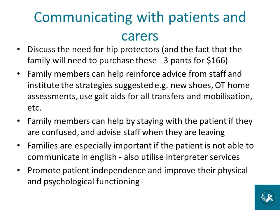 Communicating with patients and carers