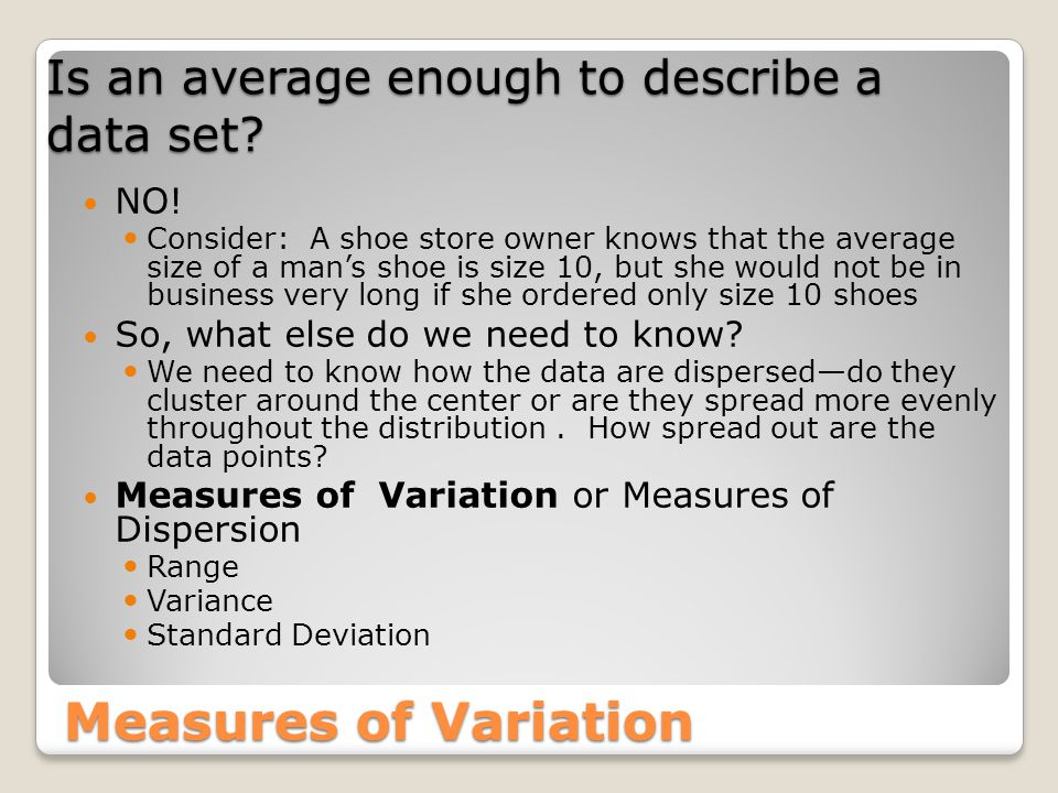 Is an average enough to describe a data set