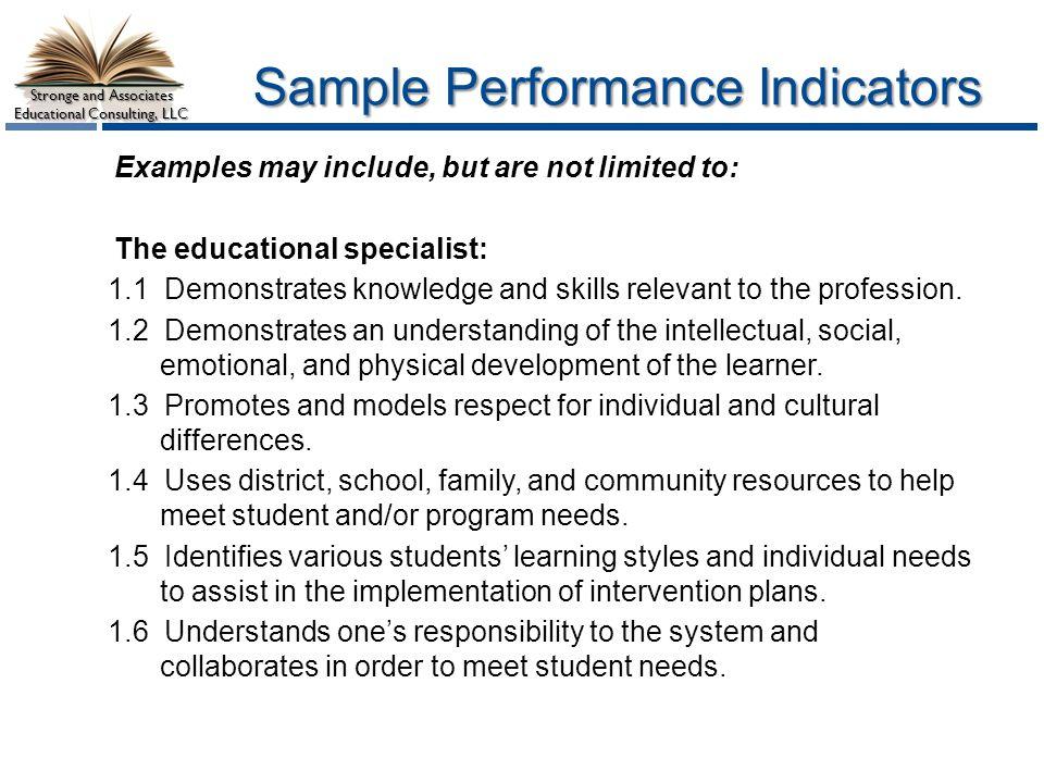 Sample Performance Indicators