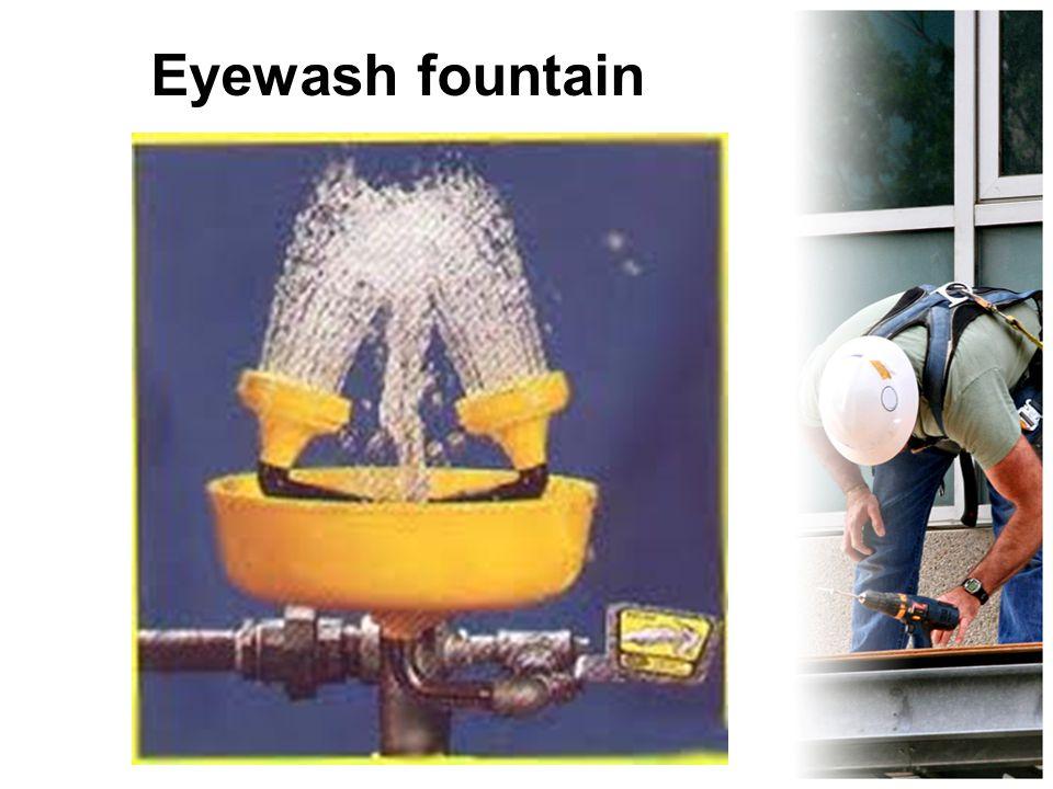 Eyewash fountain