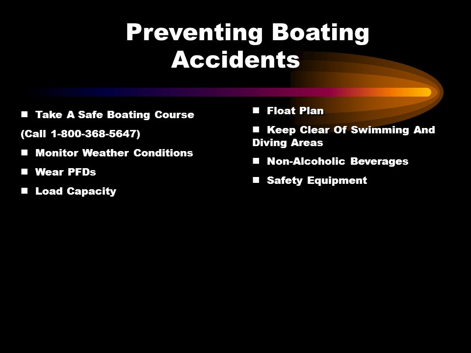 Accidents Preventing Boating
