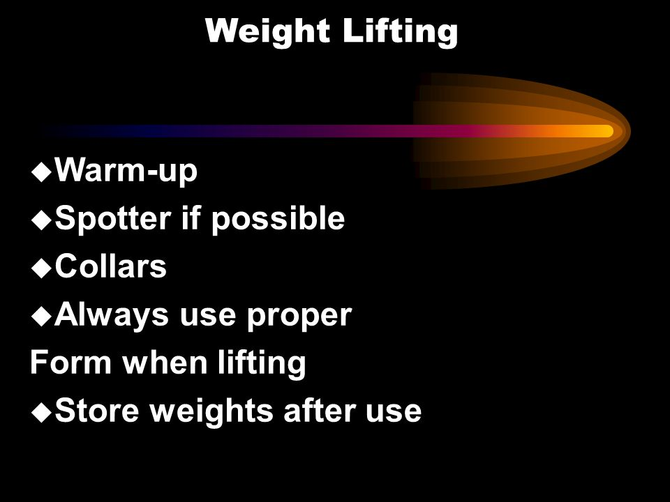 Store weights after use