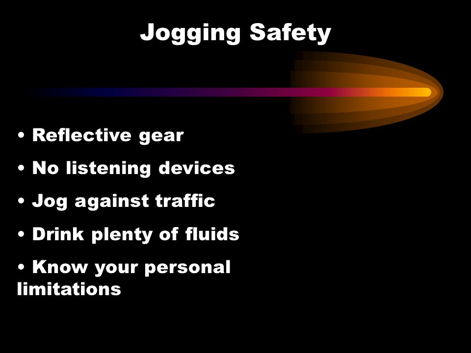 Jogging Safety Reflective gear No listening devices