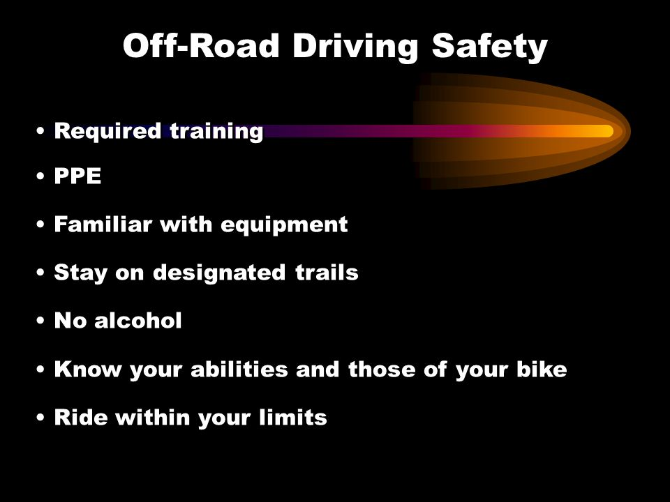Off-Road Driving Safety