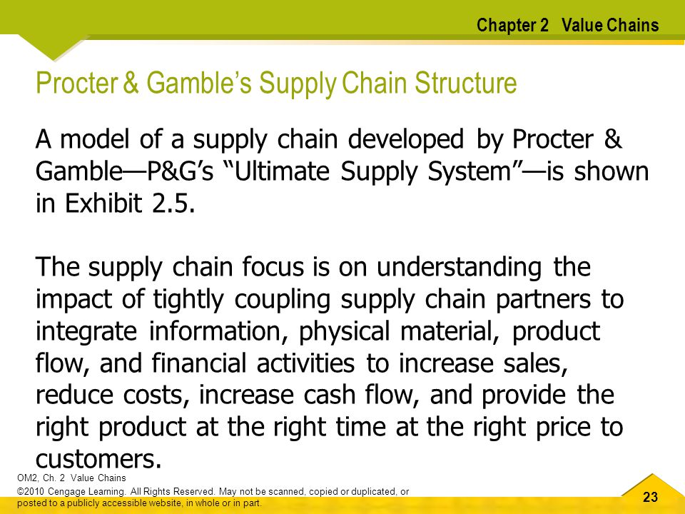Procter & Gamble's Supply Chain Structure