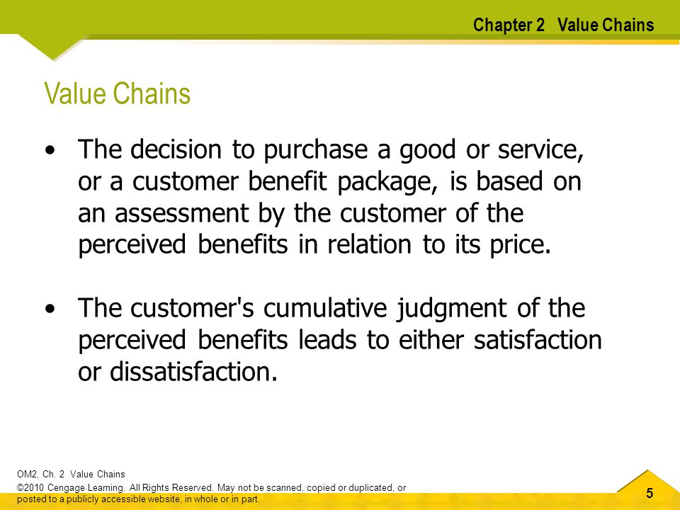 Chapter 2 Value Chains Value Chains.