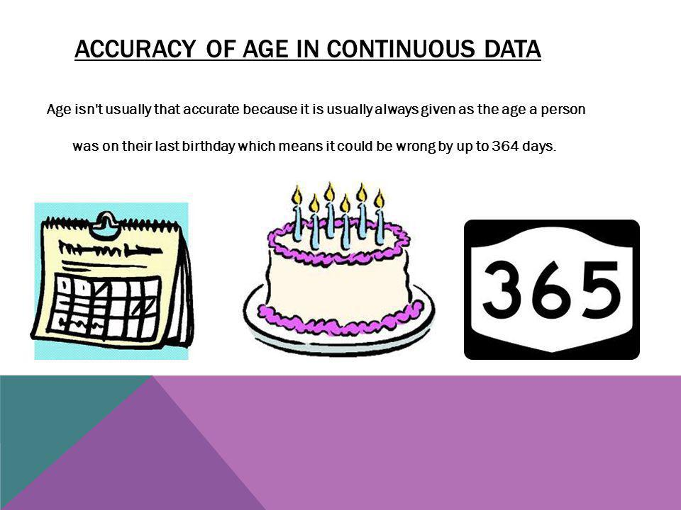 Accuracy Of age In Continuous Data