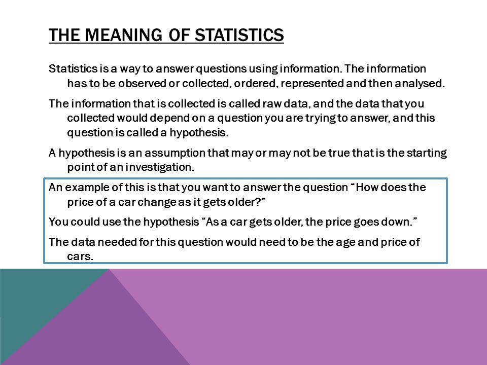 The meaning of statistics