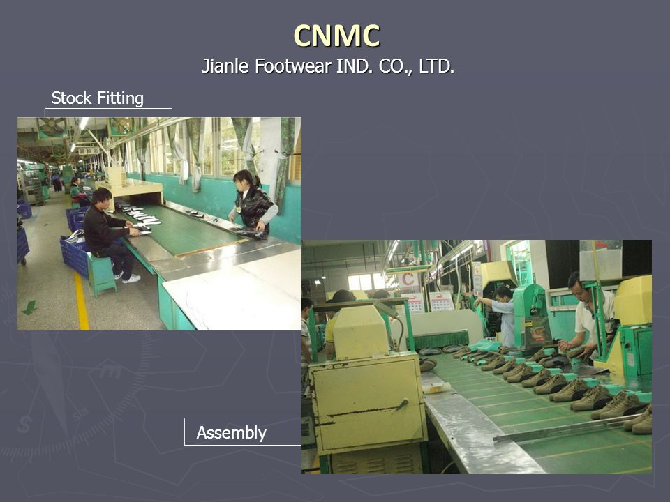 CNMC Jianle Footwear IND. CO., LTD. Stock Fitting Assembly