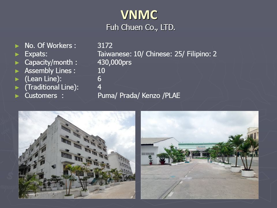 VNMC Fuh Chuen Co., LTD. No. Of Workers : 3172