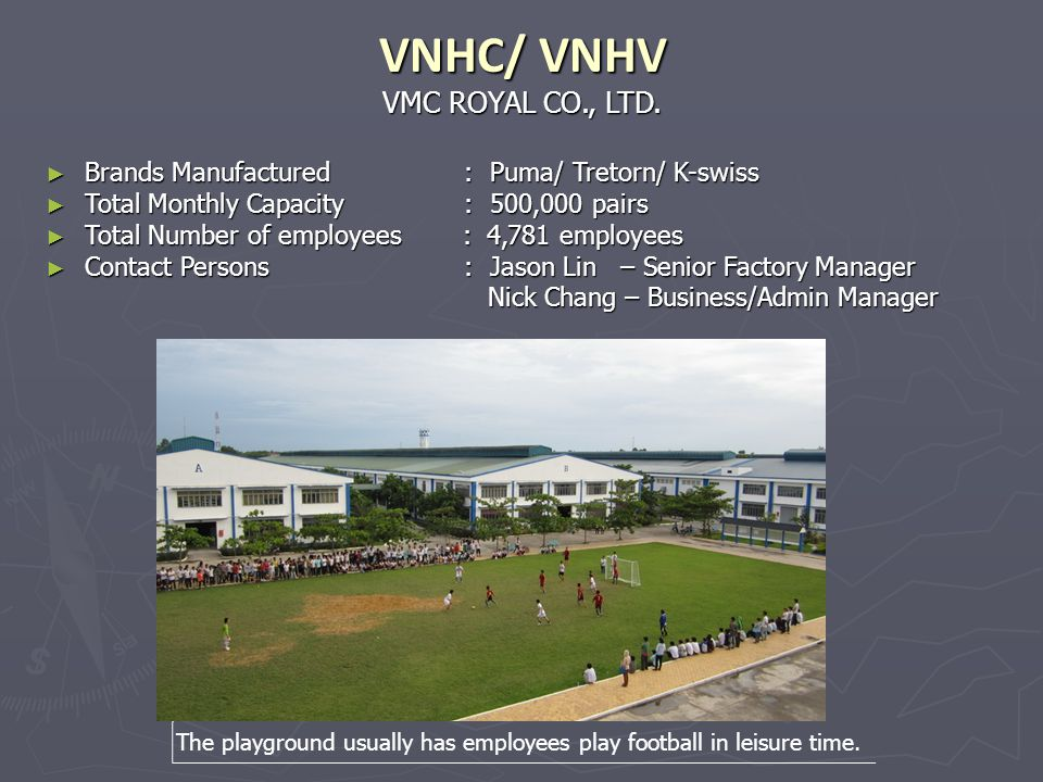 VNHC/ VNHV VMC ROYAL CO., LTD.