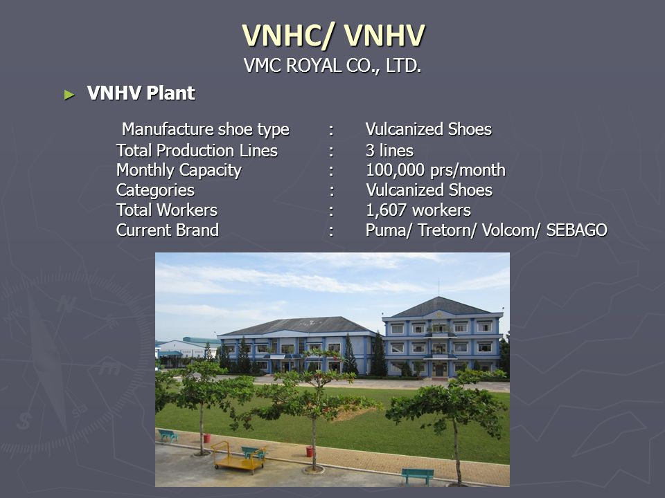 VNHC/ VNHV Manufacture shoe type : Vulcanized Shoes