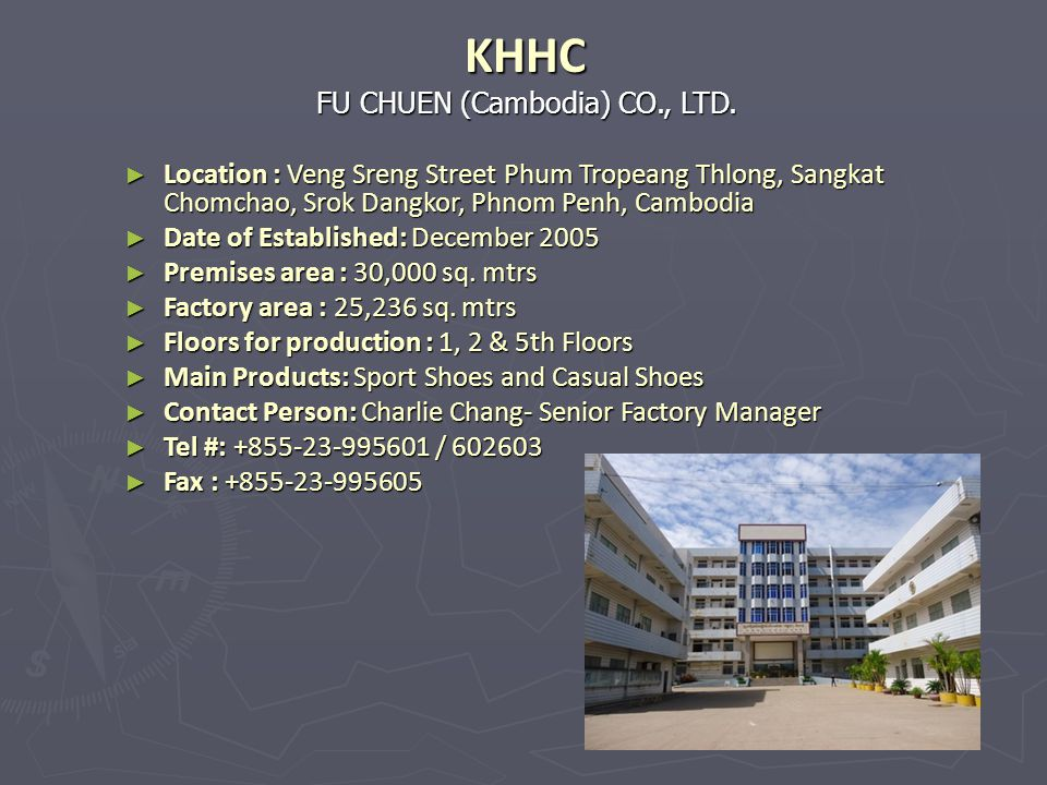 KHHC FU CHUEN (Cambodia) CO., LTD.