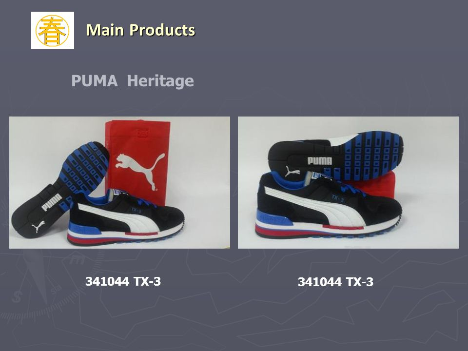 Main Products PUMA Heritage 341044 TX-3 341044 TX-3