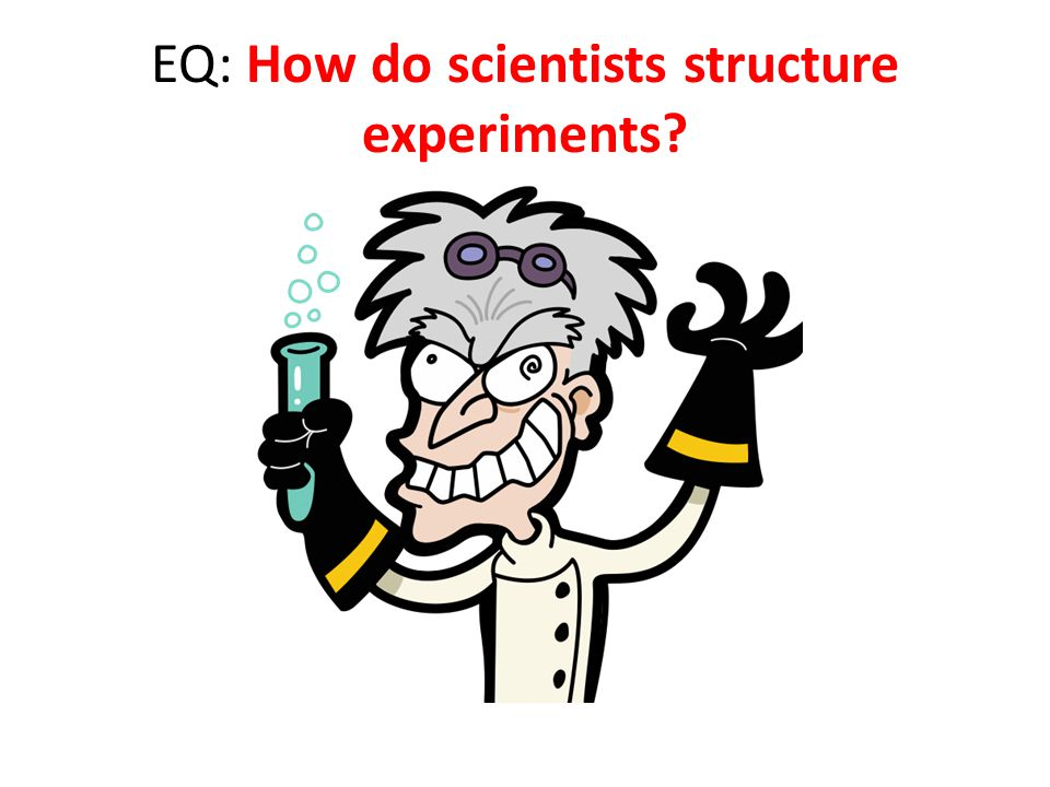 EQ: How do scientists structure experiments