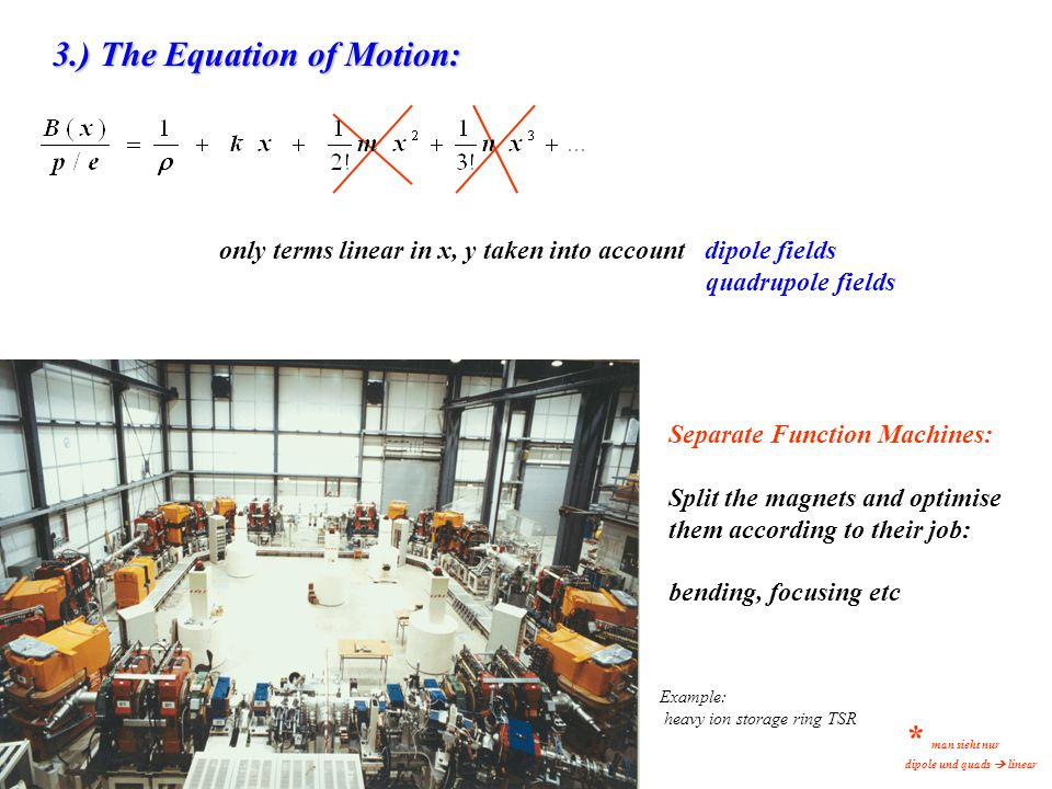 * man sieht nur 3.) The Equation of Motion: