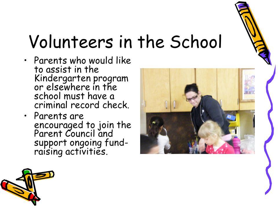 Volunteers in the School