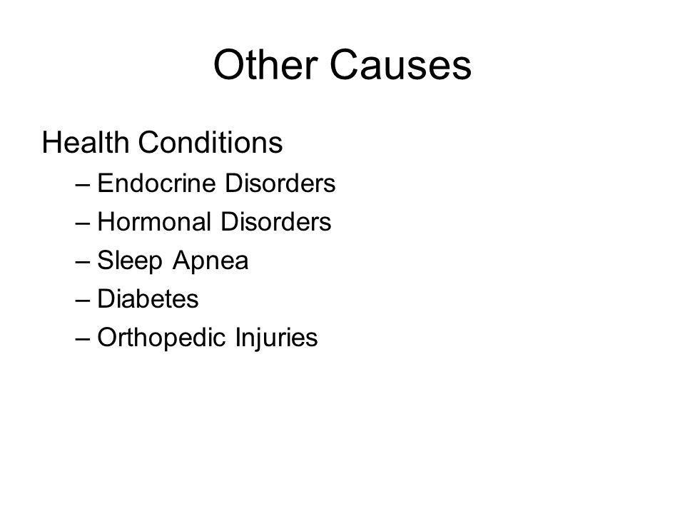 Other Causes Health Conditions Endocrine Disorders Hormonal Disorders