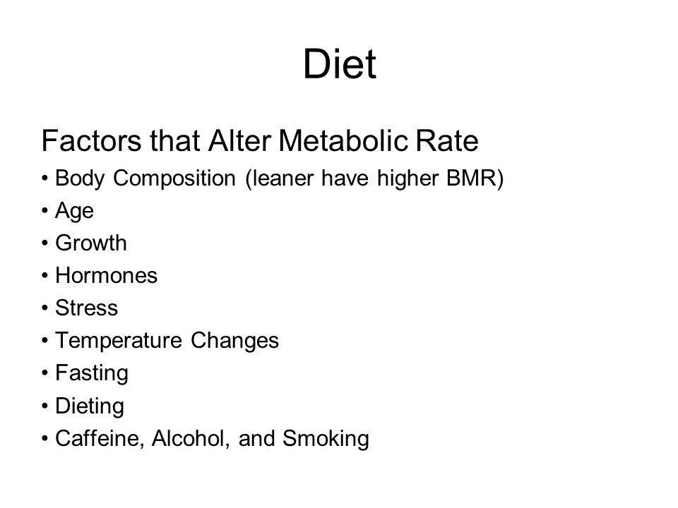Diet Factors that Alter Metabolic Rate