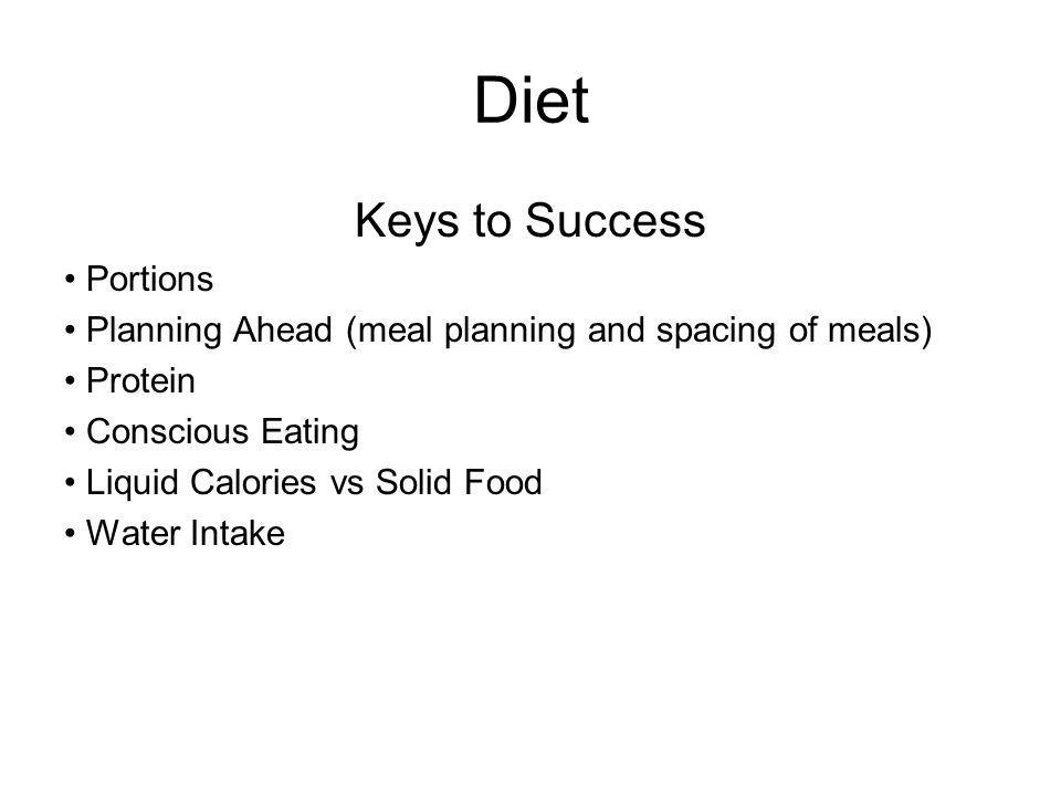 Diet Keys to Success Portions