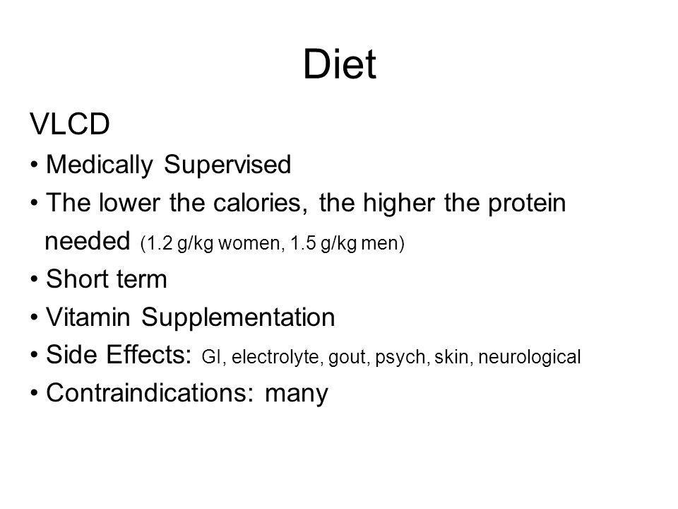 Diet VLCD Medically Supervised