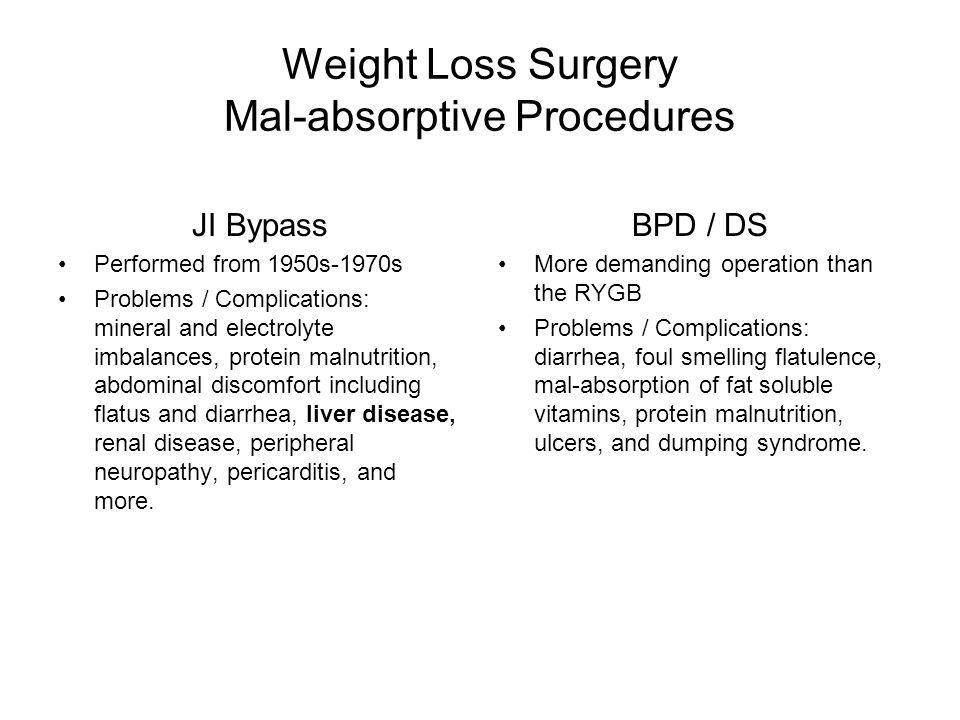 Weight Loss Surgery Mal-absorptive Procedures