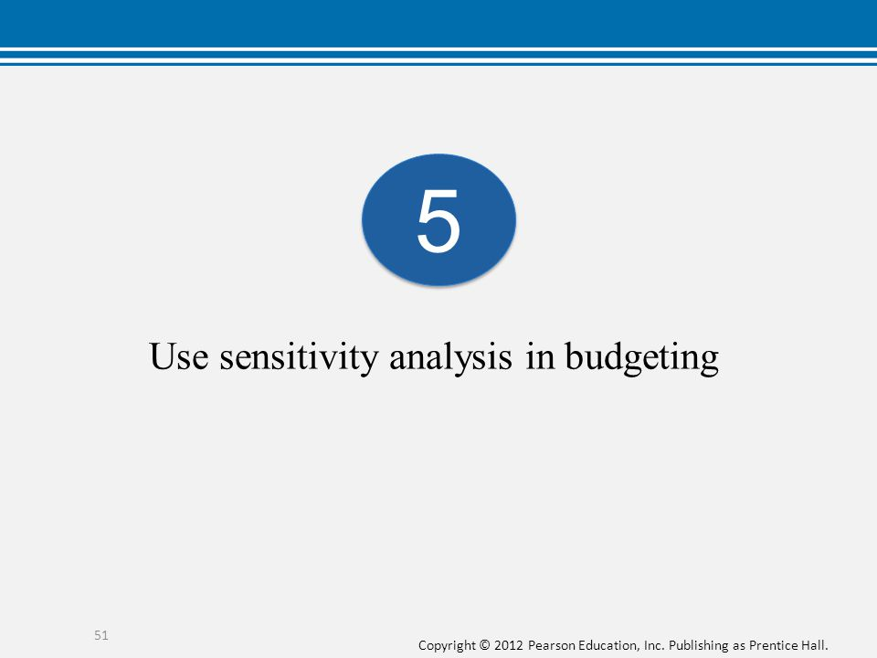 Use sensitivity analysis in budgeting