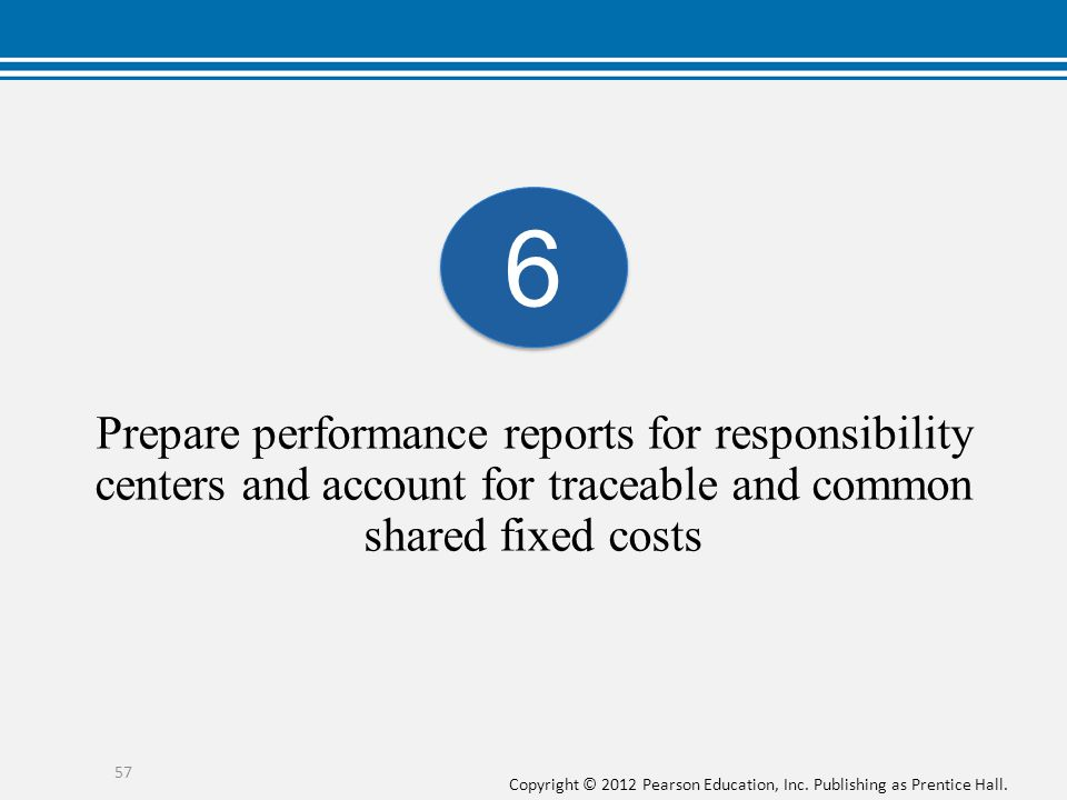 6 Prepare performance reports for responsibility