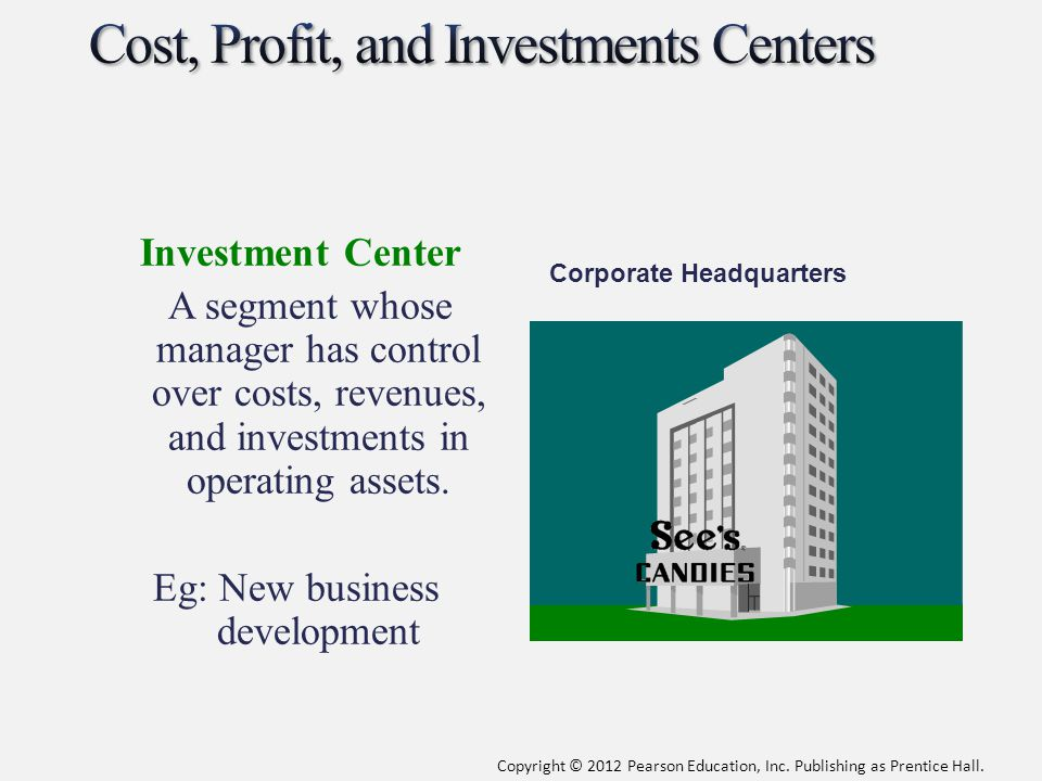Cost, Profit, and Investments Centers