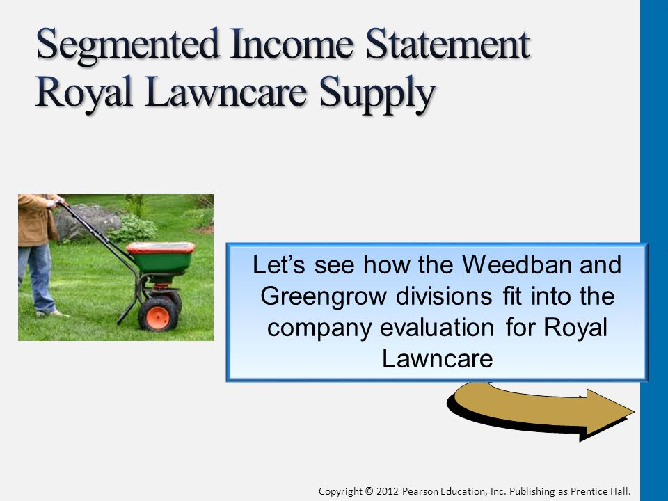 Segmented Income Statement Royal Lawncare Supply
