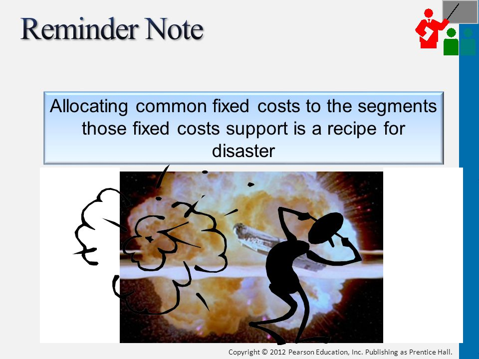Reminder Note Allocating common fixed costs to the segments those fixed costs support is a recipe for disaster.