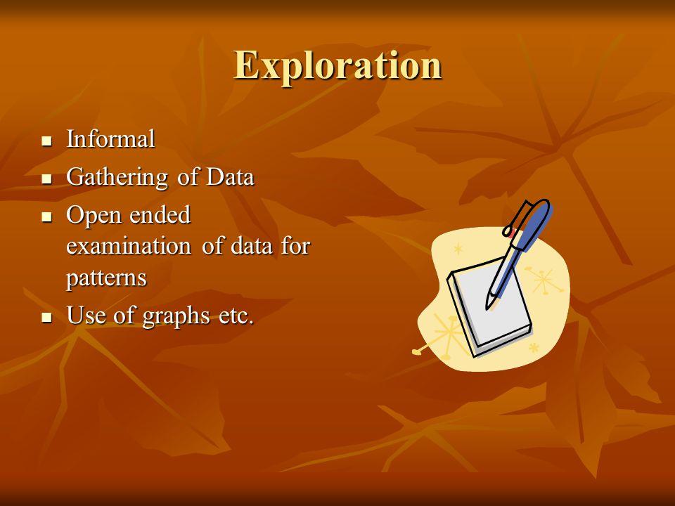 Exploration Informal Gathering of Data